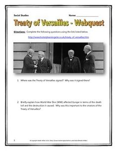 treaty of versailles document d answers