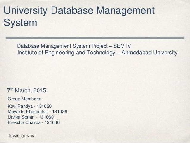 university management system project documentation