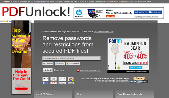 unlock password protected pdf document