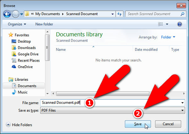 what file type should i use to scan a document