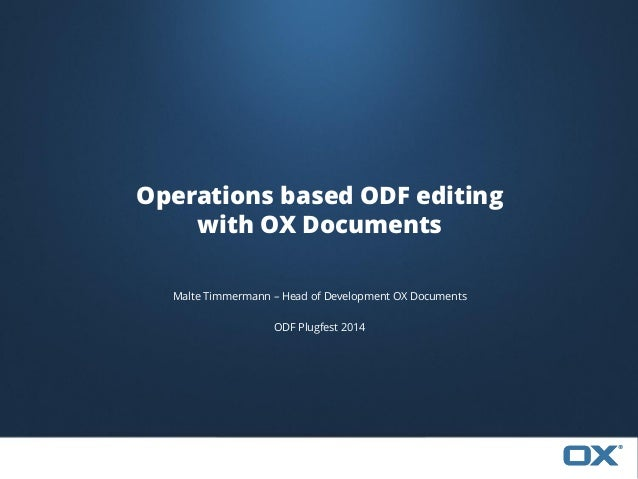 what is an odf document