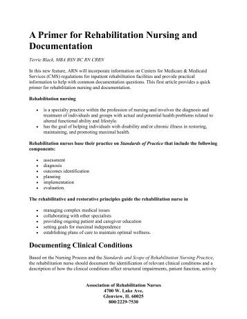 what is narrative documentation in nursing