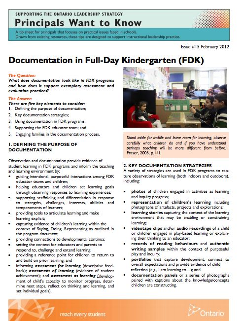 what is pedagogical documentation