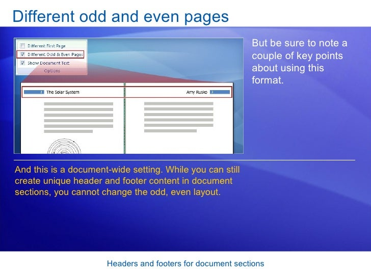 what to put in a footer word document