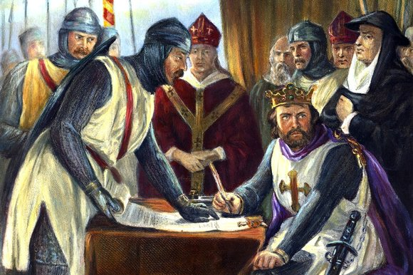 what was the document signed by king john in 1215