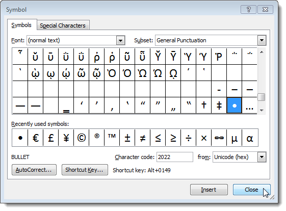windows word shortcut key to go to beginning of document