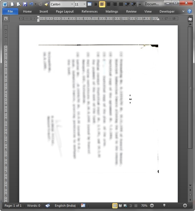 word copy u tab only half document is visible