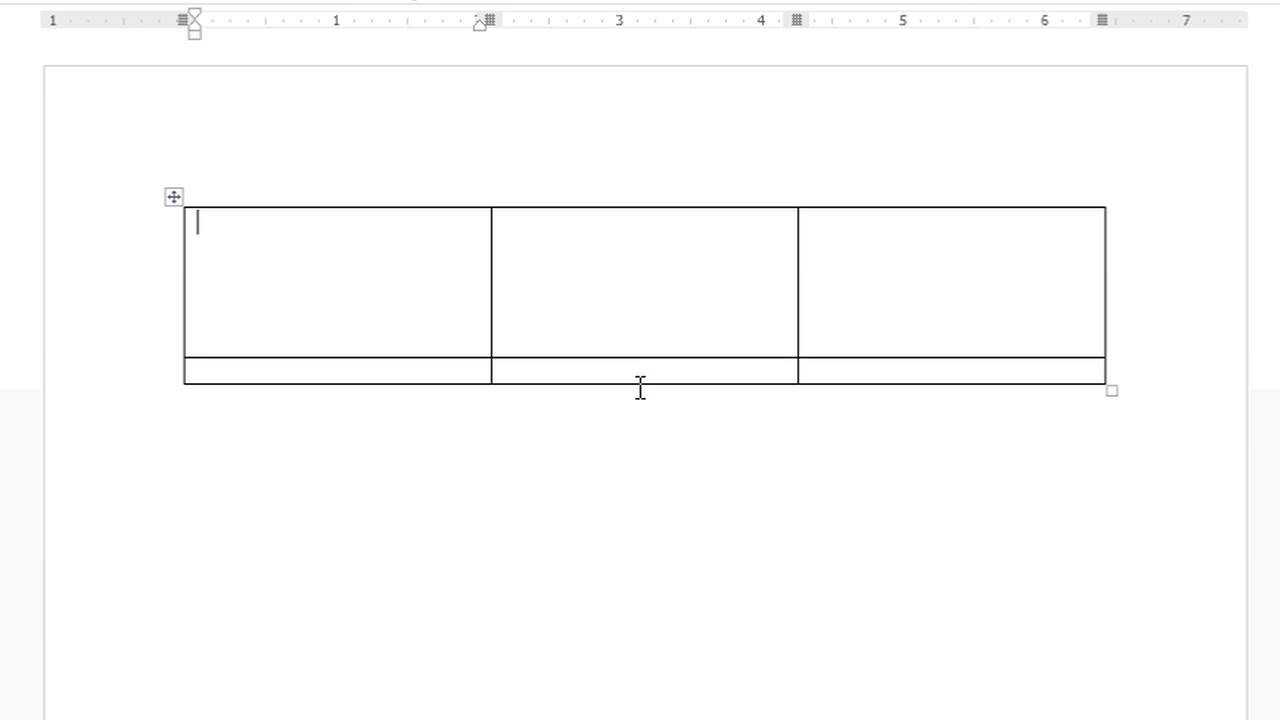 word document page in 6 boxes
