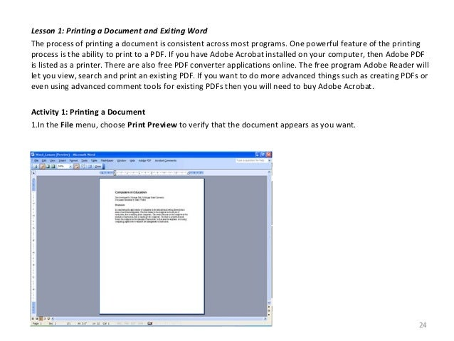 word processor to create a document