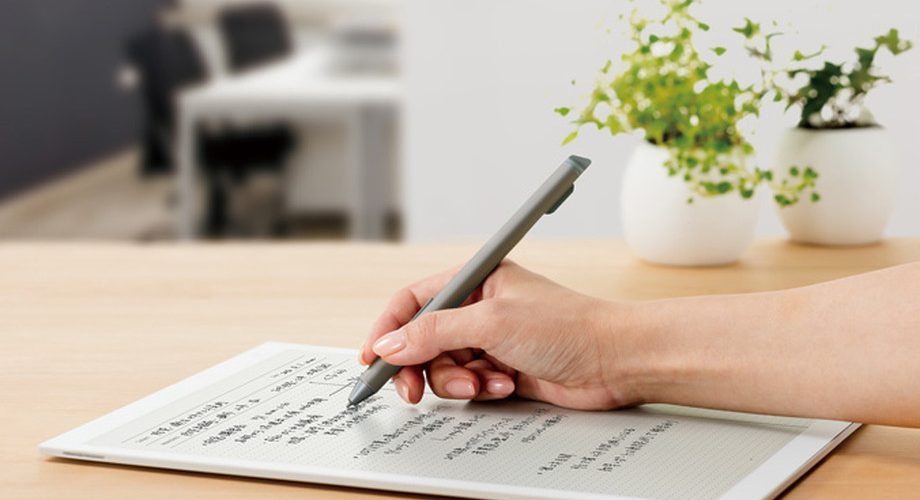 write on a digital document