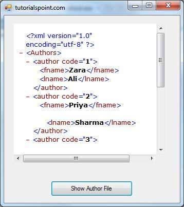 xml document example vb.net
